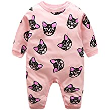 Domybest Pijama Monos de vestir para Recién nacido Bebé Niñas Niños Gato Algodón Manga Larga