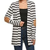 Pagacat Strickjacke Cardigan, Damen Striped Kimono Cardigan Patchwork Outwear XL