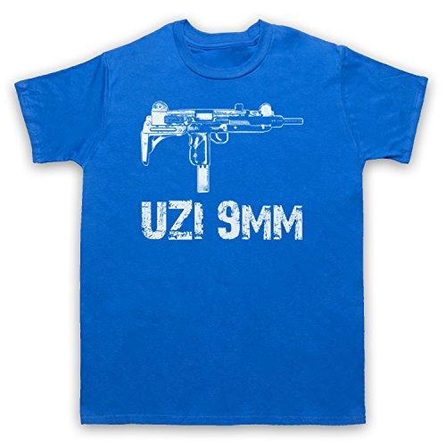 Uzi 9mm Gun Herren T-Shirt Blau