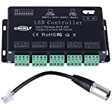 12 channel DMX 512 RGB LED strip controller dmx decoder dimmer driver DC5V-24V 5A/CH