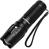 LED Torch, Binwo Super Bright 2500 Lumen Zoomable CREE XML2 LED Flashlight Adjustable Focus Tactical Torch with 5 Modes, Waterproof Handheld Powerful Torch for Outdoor Sports, Warranty for 2 Years