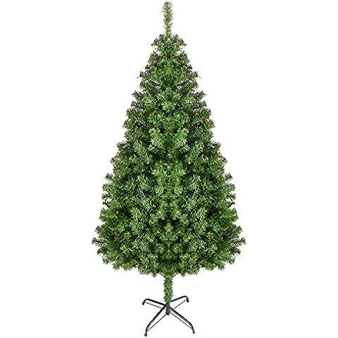 Árbol de Navidad natural verde Artificial modelo PINO PVC (180cm 850 ramas)
