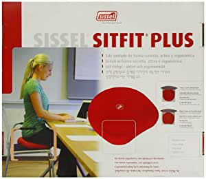 SISSEL SITFIT PLUS SEAT CUSHION. Active sitting one side and comfort sitting on reverse - Black