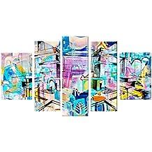 Startonight decorazione da parete in vetro acrilico Decor colorato astratto,