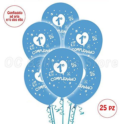 Palloncini-1-Compleanno-Azzurrro-addobbi-e-decorazioni-per-feste-party-confezione-25pz