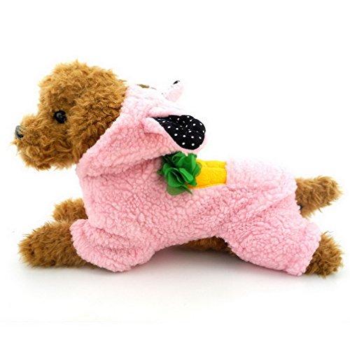 ranphy Liebenswürdig, Bunny Kaschmir Hund Jumpsuit Hoodie Winter Hundemantel Hunde Jacke Chihuahua Kleidung (Run Kleine, Bitte den nächsten bis Größe auf der (Kostüm Arbeit Bunny Für Die)