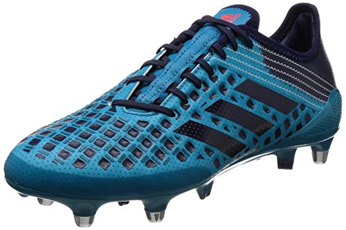 adidas Predator Malice SG, Botas de Rugby para Hombre, Turquesa (Mystery Petrol/Noble Ink/Blaze Orange), 42 2/3 EU