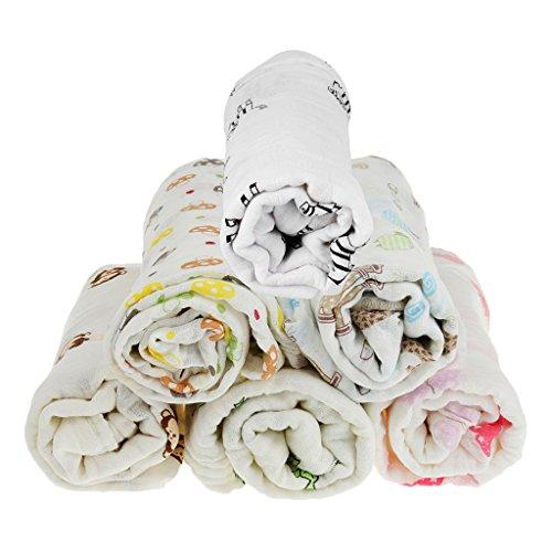 Sharplace Unisex Pucktuch Puckdecken Mulltücher Baumwolle Ideal fürs Kinderbett niedliche Motive - Schmetterling, 110*110