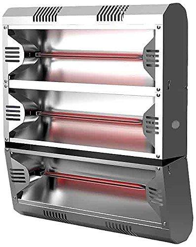 Mo-El Infrarot Heizstrahler Hathor 4500 LowGlare Ultra IP55, Silber, 4500 Watt