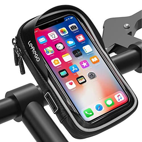 Wasserdicht Fahrrad Handyhalterung Handyhalter Lenkertasche Rahmentasche Halterung Outdoor Fahrradhalterung Motorrad Bike Lenker Tasche 360°Drehbarem Für 6 Zoll Handys GPS Navi Andere Geräte