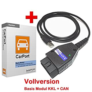 AutoDia K509 mit CarPort Software Basis-Modul KKL + CAN USB Diagnose Interface VW AUDI SEAT SKODA