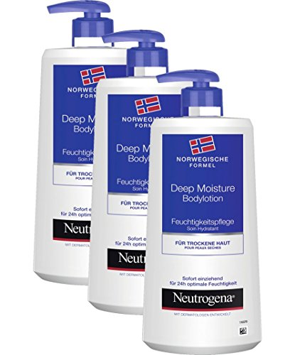 Neutrogena Norwegische Formel Deep Moisture Bodylotion / 3 x 400ml