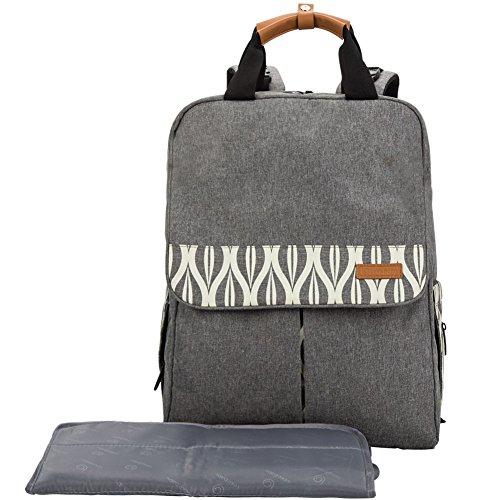 Preisvergleich Produktbild lekebaby Windel-Rucksack / -Tasche für Mütter mit Wickelunterlage und kinderwagenhalter.