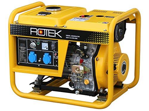 Rotek Diesel Stromerzeuger GD4-1A-3300-EBZ (3,6 kVA / 3,3kW 230V 50Hz - Diesel-generatoren