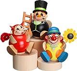 Esposizione della colonna per 3 montagne di öre di Natale 8cm delle figurine della palla delle figurine della palla NUOVE