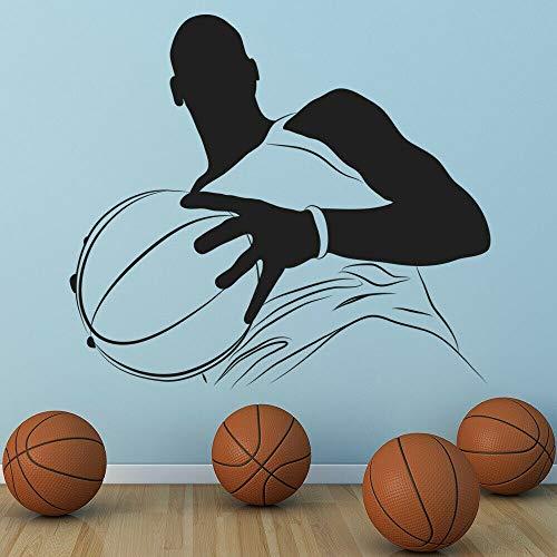 hetingyue Große Basketball-Spieler Wandtattoos Jungen Schlafzimmer Basketball-Spiel Wandaufkleber Spielzimmer Vinyl 40x35cm