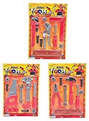 Joiners Nuts & Bolts 3 In 1 Toy Tool Set Diy Tools Sets Includes 3 Individual Play Tool Kits