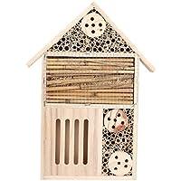 A sixx Casetta per Insetti, Casetta per Insetti in Legno da Esterno in Legno Camera per Insetti in Legno Casetta per nidificazione per Insetti Decorazione da Giardino(Un Tipo)