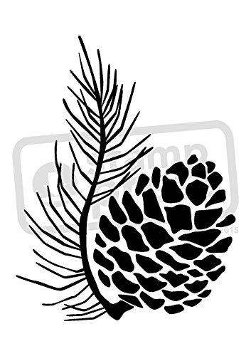 a7-pine-cone-unmounted-rubber-stamp-sp00006055