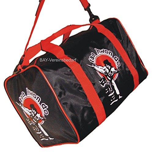 Taekwondo Club (BAY® Sporttasche Taekwondo Tae Kwon Do, Taekwon Do, Trainingstasche, Tasche, schwarz/rot, 50 cm)