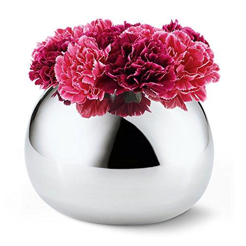 Philippi Bella L Vase, Edelstahl, Silber, 21 x 21 x 15 cm (Silber Vasen)