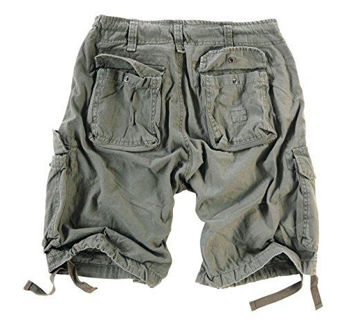 Surplus Herren Airborne Vintage Cargo Shorts Oliv