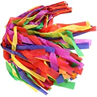 Dance Rainbow Ribbon Hand Held Sport Gym Gimnasia DIY Baton Twirling para Accesorios de baile Trainers Colored Ribbon Streamer rítmico con antideslizante Long Stick Metal Grommet para niños Art 12PCS