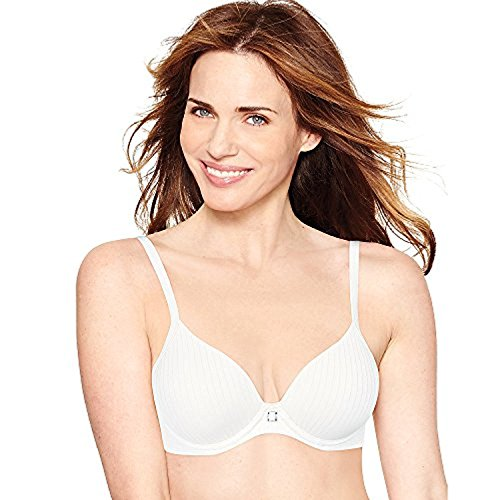 Hanes by Ultimate ComfortBlend T-Shirt Natural Lift Underwire Bra_White Stripe Htr_36B