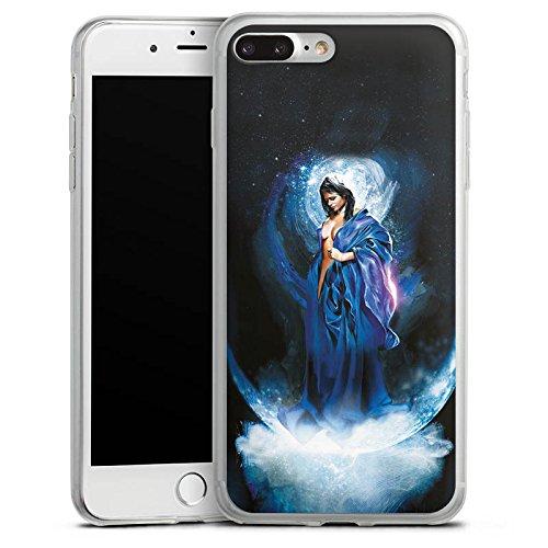 Apple iPhone 8 Plus Slim Case Silikon Hülle Schutzhülle Frau Mädchen Universum Silikon Slim Case transparent