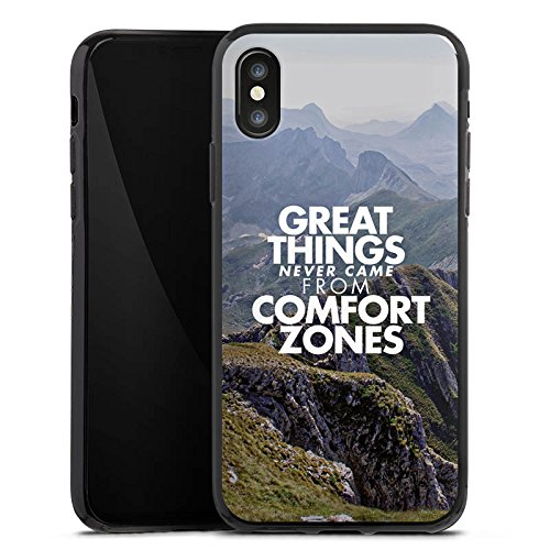 Apple iPhone X Silikon Hülle Case Schutzhülle Motivation Sprüche Workout Silikon Case schwarz