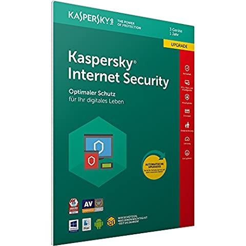 Kaspersky Internet Security 2018 Upgrade | 3 Geräte | 1 Jahr | Download