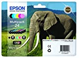 Epson Original T2428 Elefant, Claria Photo HD Tinte (hochauflösende Fotodrucke, Multipack 6-farbig) (CYMK + Light cyan, Light magenta)