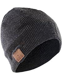 Sharon Music Beanie Cap AirPods - Cappello Smart con auricolari stereo e microfono integrato, Wireless, Grigio scuro