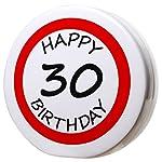 Salvadanaio compleanno 30anni con tappo, rotondoDimensioni: 15x 15,5x 5cmMateriale: ceramicaTappo di chiusura: