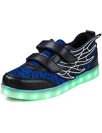 SAGUARO® Unisex niños USB Carga LED Luz Luminosas Flash Zapatos Zapatillas de Deporte para Los Reyes Magos