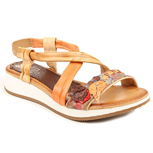Marila - Sandali  donna Orange and Beige