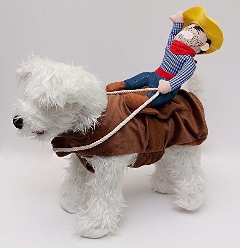 Kostüm Rider Bull - Midlee Bucking Bronco Cowboy Hund Kostüm von, Small