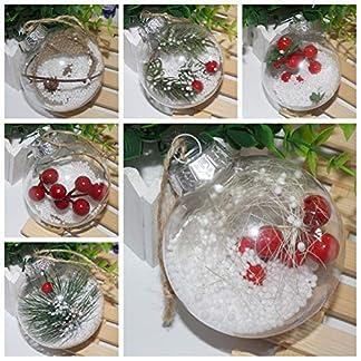 osmanthusFrag Bola De Navidad, Adorno De árbol De Navidad De Adorno Colgante Transparente Decoración De Fiesta En Casa