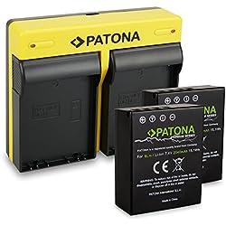PATONA Dual Chargeur + 2X Batterie comme BLH-1 Compatible avec Olympus Om-D EM-1 | Om-D EM-1 Mark 2