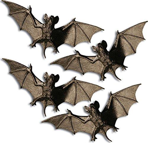 * aus Kunststoff zur Deko für Halloween // Dekoration Fledermäuse Horror Mottoparty Party Motto Grusel Bat black ()