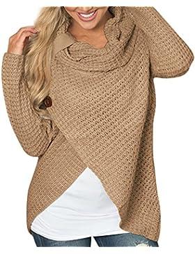[Patrocinado]Cárdigan para Mujer BBestseller Moda Suéter Largo Casual Sweatshirt Prendas de Punto de Cuello Batwing Mangas...