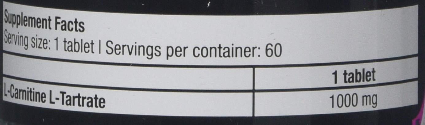 Biotech 108 g L Carnitine 1000 mg 60 tablets