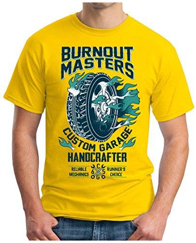 OM3 - BURNOUT-MASTERS - T-Shirt GEEK, S - 5XL Gelb