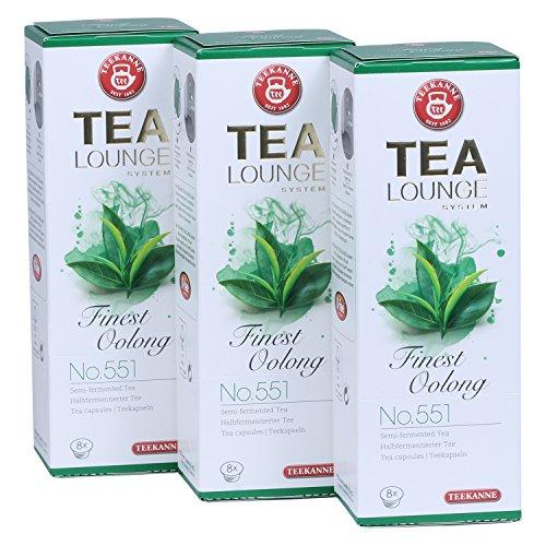 8 Lange Tees (Teekanne Tealounge Kapseln - Finest Oolong No. 551 Grüner Tee (3x8 Kapseln))
