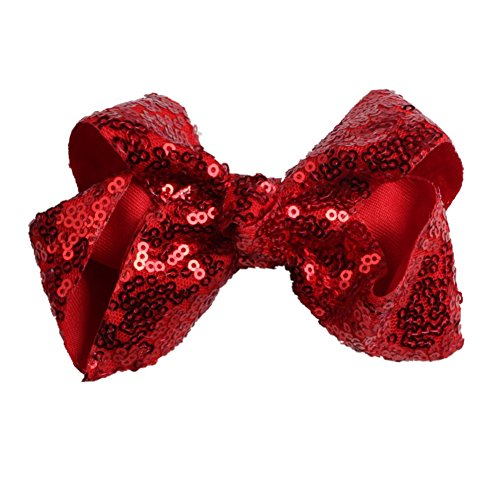 Griffe Glitter Sparkly Pailletten Boutique Haarschleife Zubehör für kleine Prinzessin Kid Teen ()