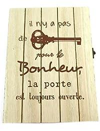 Les Trésors De Lily  P8817 - Boite à clés Bois  Message  (Il n y a Pas de  clé pour Le Bonheur, la Porte est… 68c6e33e084