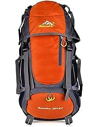 Macbag Mochila de excursión Resistente al agua Daypack 40L 55L para Camping, Trekking y Escalada (Naranja, 55L)