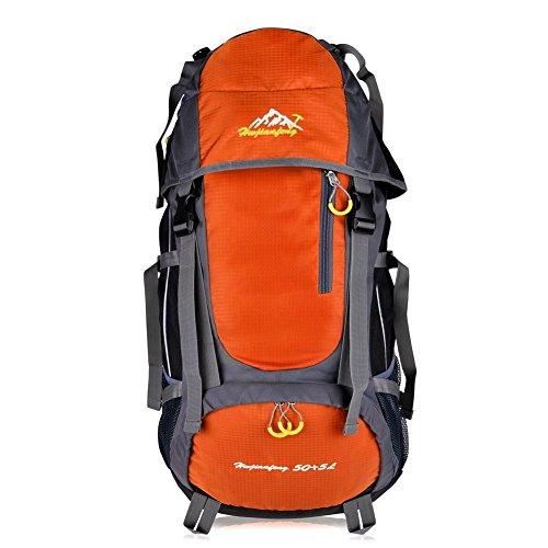 Imagen de macbag  de excursión resistente al agua daypack 40l 55l para camping, trekking y escalada naranja, 55l