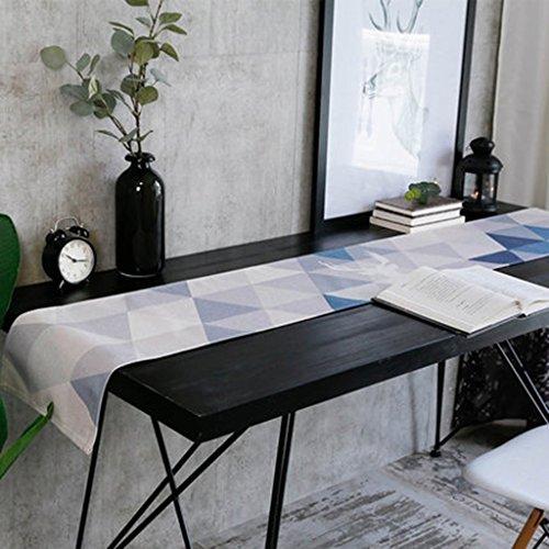 QiangZi Table Runner Dîners De Cuisine Style Nordique Ours Polaire Entretien Facile Usage Quotidien Nappe Napperon Rectangle, 32 * 190CM ( Couleur : Diamond , taille : 32*160CM )