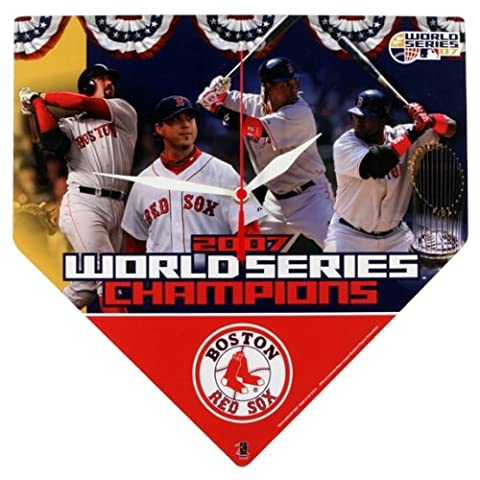 Old Glory–2007World Series Boston Red Sox Champs Home Plaque Horloge